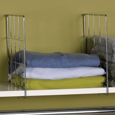 Household Essentials 2ct Shelf Divider Silver
