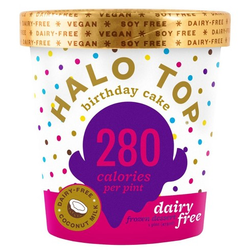 Admirable Halo Top Dairy Free Birthday Cake Frozen Dessert 16Oz Target Funny Birthday Cards Online Alyptdamsfinfo