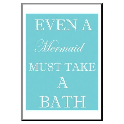 Mermaid Must Bathe by Taylor Greene Mounted Print