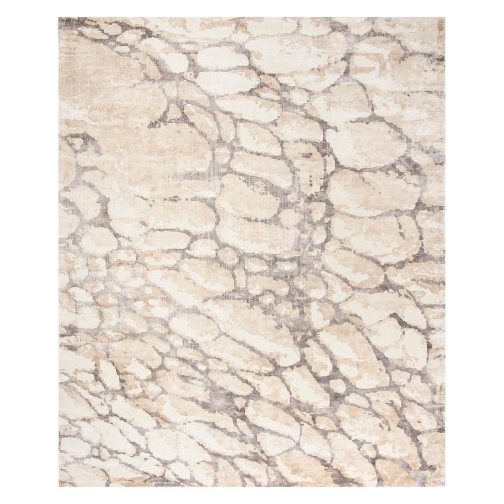 8'X10' Pebble Area Rug Gray/Ivory - Safavieh