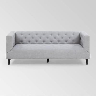 Loomis Contemporary Microfiber Upholstered Tufted Sofa - Christopher Knight Home