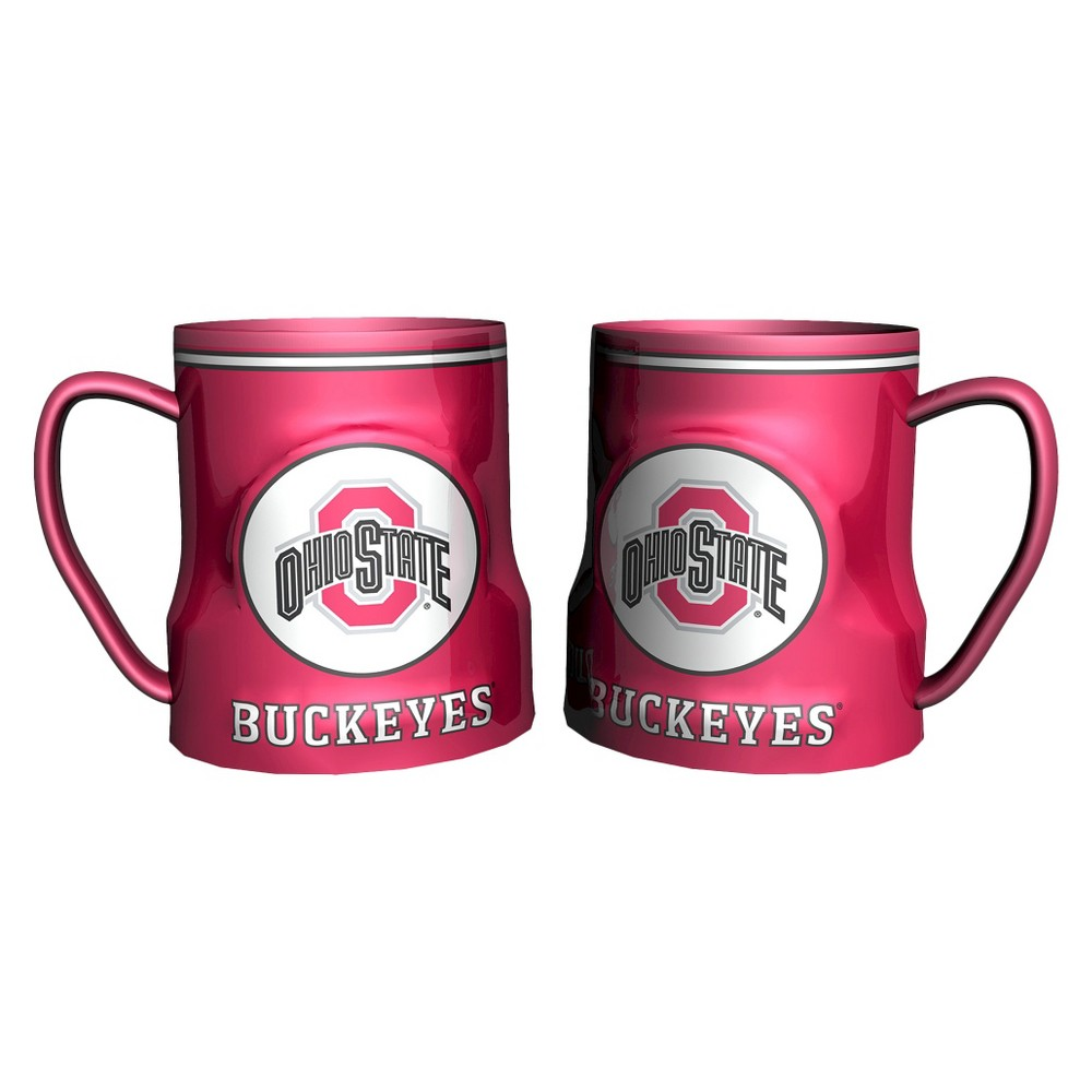 Ohio State Buckeyes Boelter Brands 2 Pack Game Time Coffee Mug - Red (20 oz), Multi-Colored