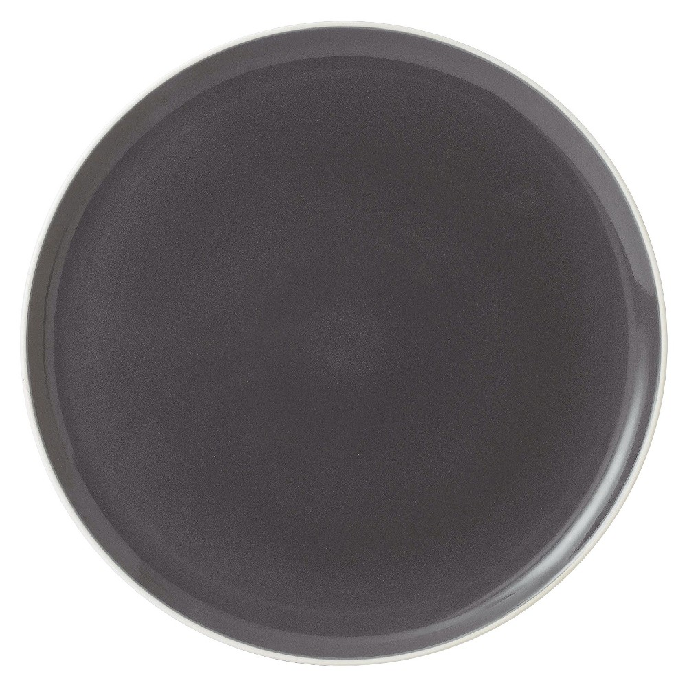 Image of Gordon Ramsay by Royal Doulton Bread Street Slate Round Platter, Gray Beige