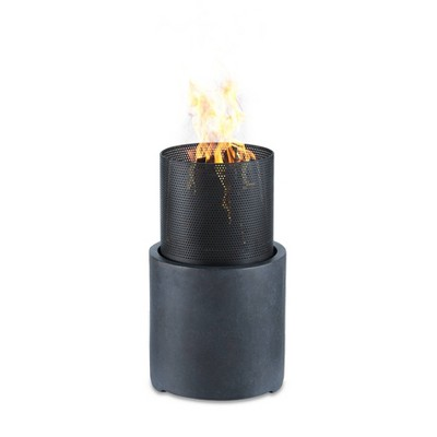 """12.5""""x21.5"""" Outdoor Wood Burning Faux Stone Column Fire Pit  - Dayna B."""