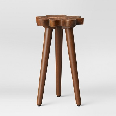Buckland Live Edge Accent Table Brown - Threshold™
