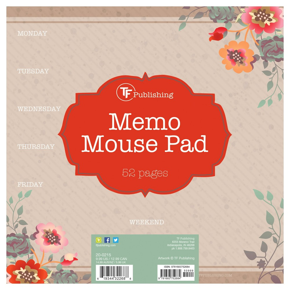 TF Publishing Memo Mouse Pad - Blooms