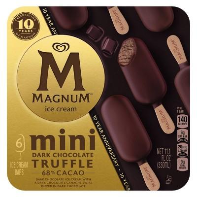 Magnum Mini Dark Chocolate Truffle Ice Cream Bar - 11.1oz/6ct