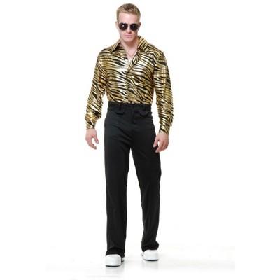 Charades Zebra Print Disco Shirt Costume