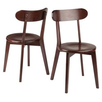 2pc Pauline Chair Set Walnut - Winsome