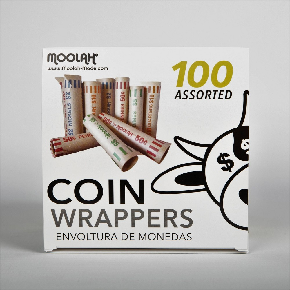 Image of Moolah 100ct Assorted Coin Wrappers
