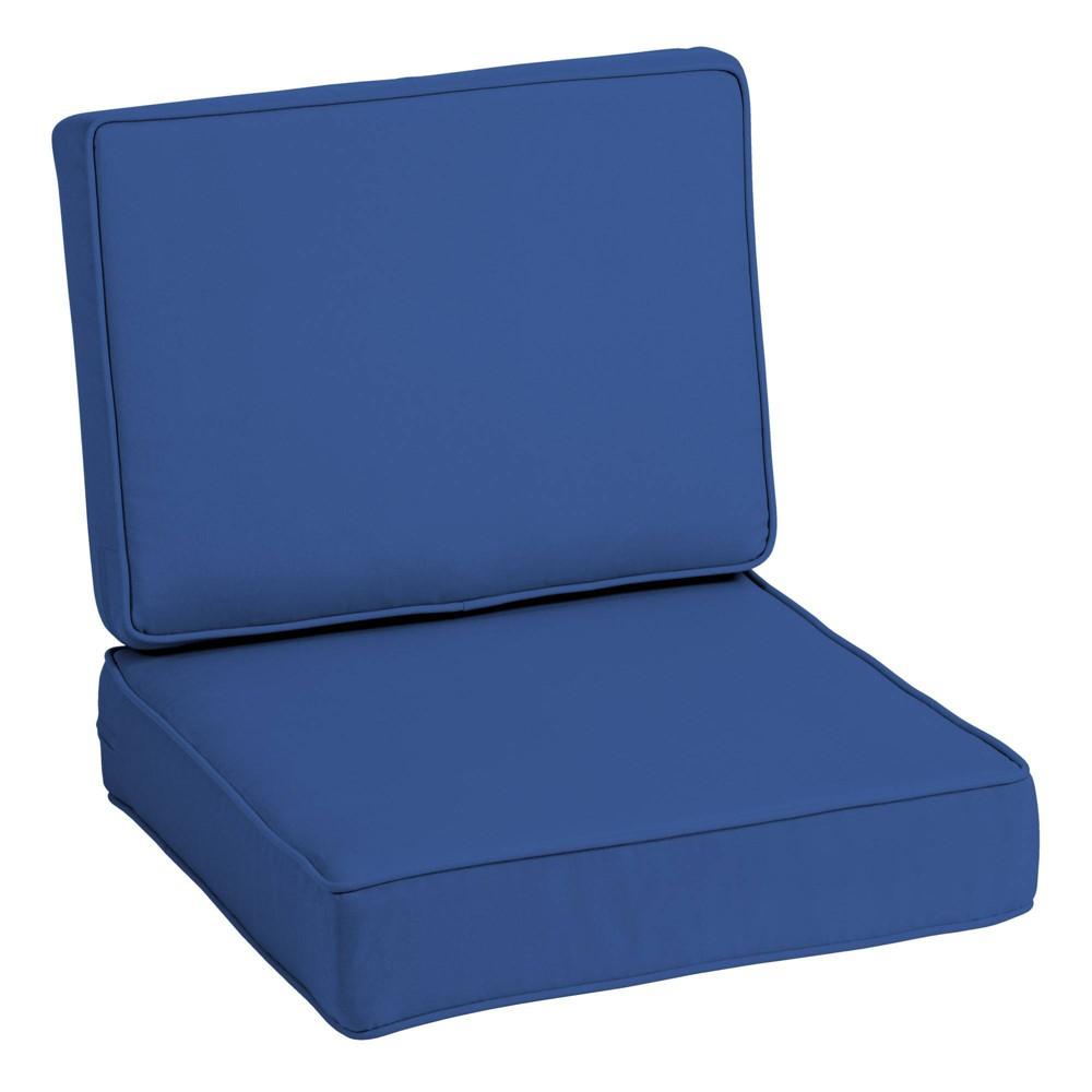 Profoam Acrylic Outdoor Deep Seat Cushion Set Lapis Arden Selections
