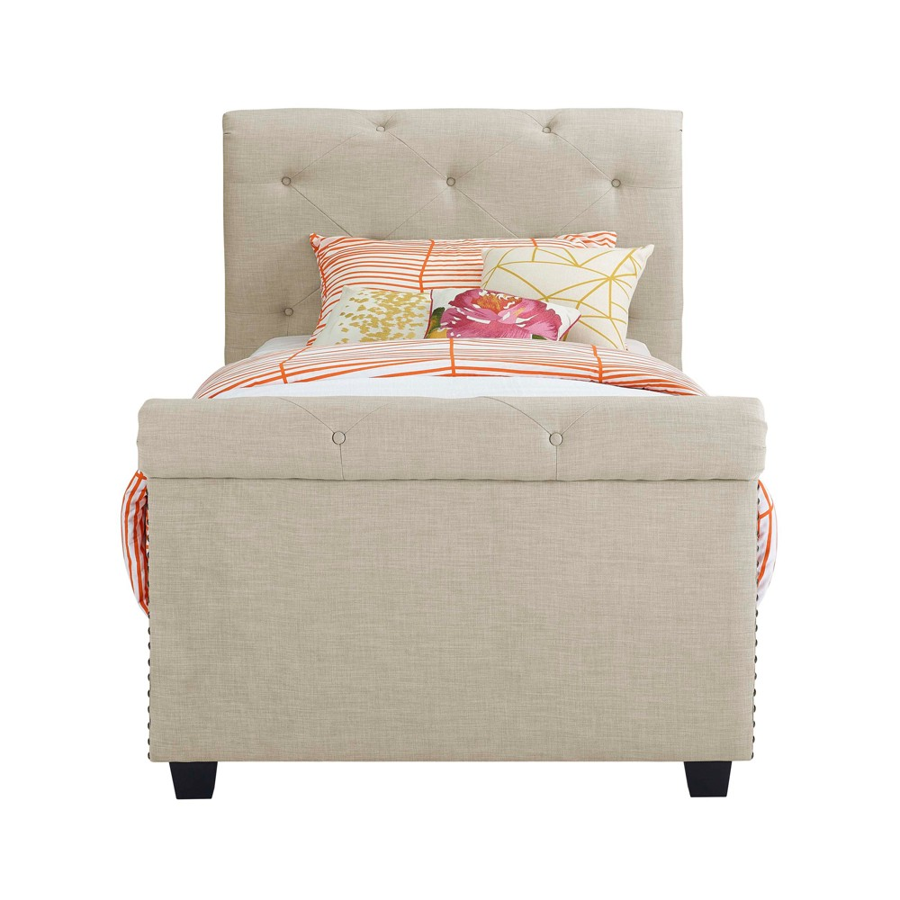 Image of Addie Youth Twin Upholster Bed Cream - Picket House Furnishings, Beige