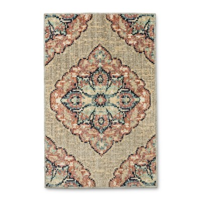 30 x20  Vintage Medallion Bath Rug Blush - Threshold™