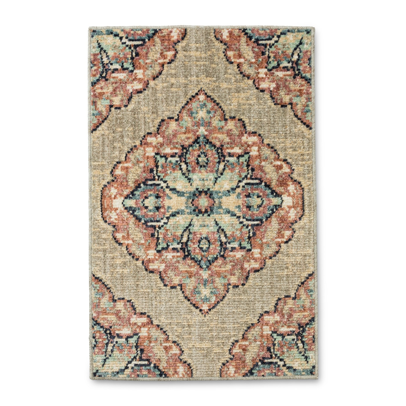 "30""x20"" Vintage Medallion Bath Rug Blush - Threshold™ - image 1 of 2"