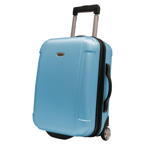 "Traveler's Choice Freedom 21"" Hardside Carry On Suitcase - Sky Blue - image 1 of 3"