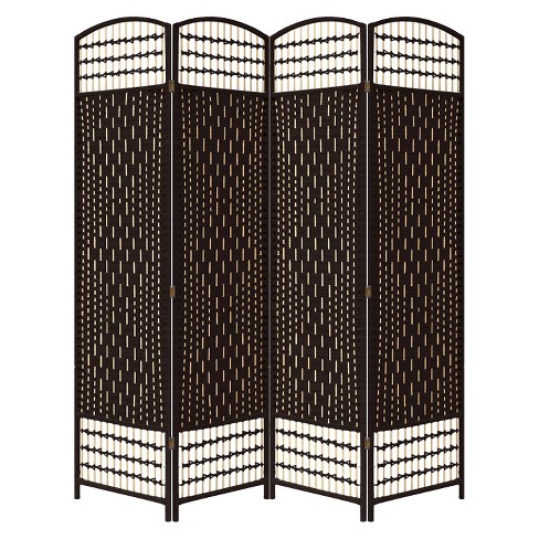 4 Panel Paper Straw Weave Screen on Legs - Ore International - image 1 of 1