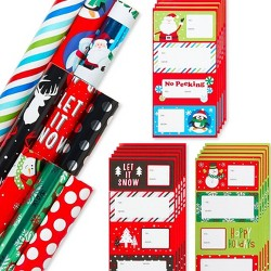 69ct Christmas Gift Wrap and Gift Tag Variety Set - American Greetings