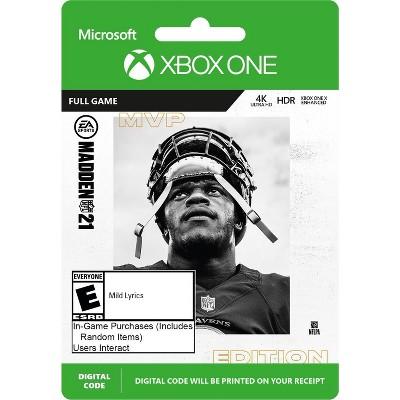Madden NFL 21: MVP Edition - Xbox One (Digital)