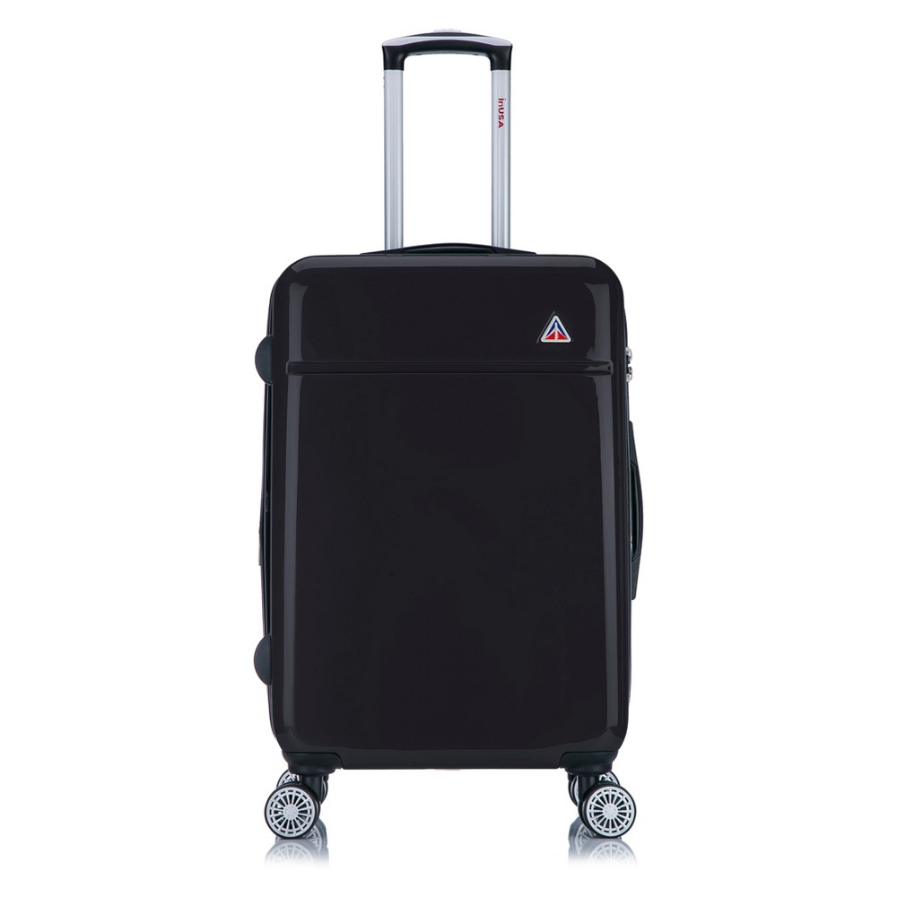 InUSA Avila 24 Hardside Spinner Suitcase - Black, Night Black
