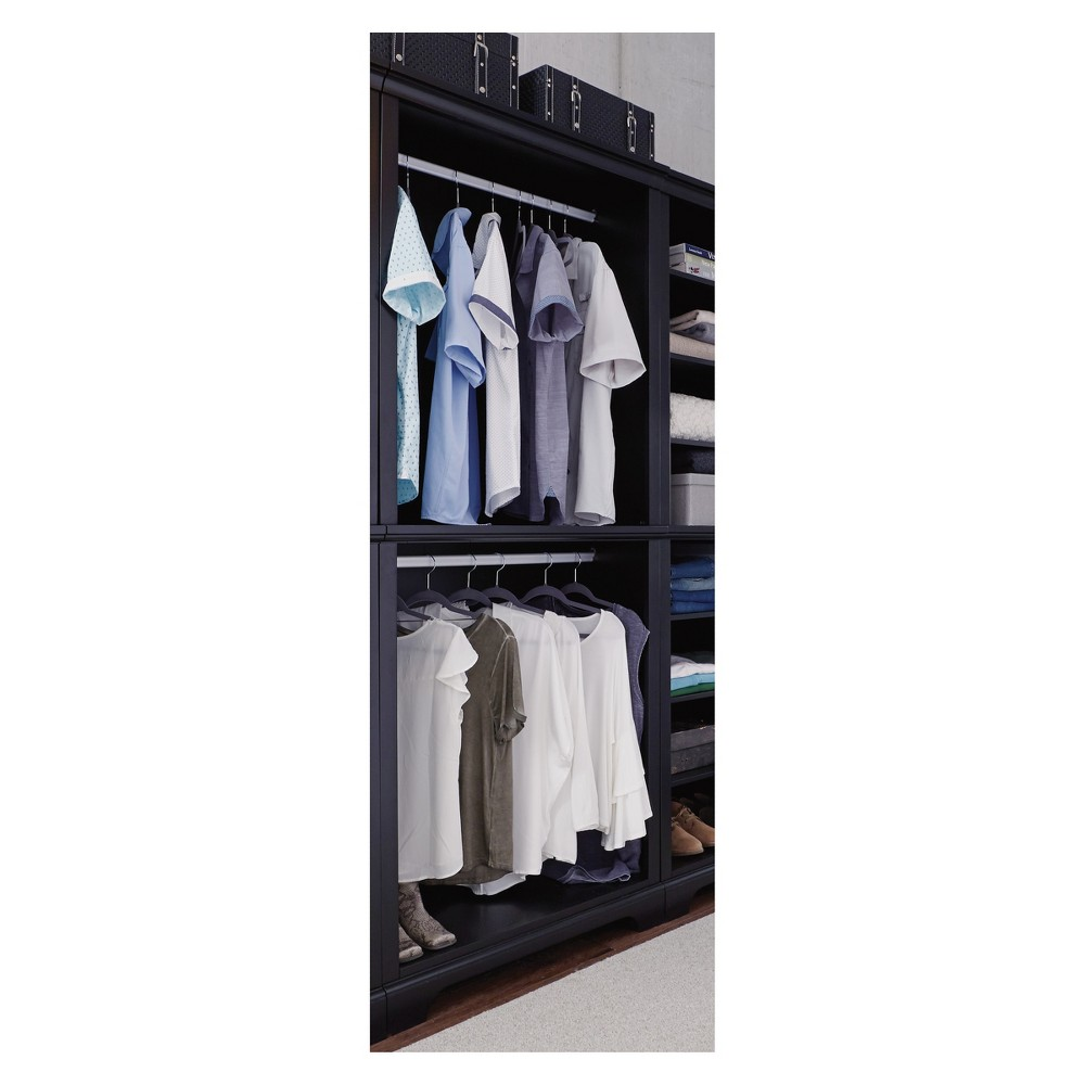 Image of Bedford Hanging Closet Wall Unit - Satin Black - Home Styles