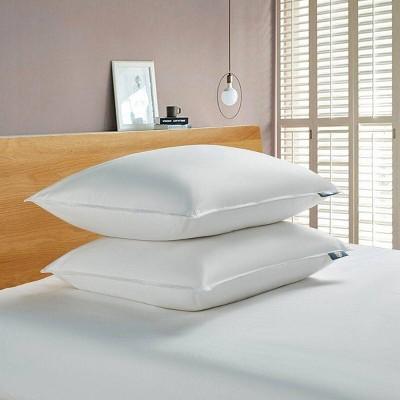 Standard Feather & Down Fiber Back Sleeper Bed Pillow - Serta