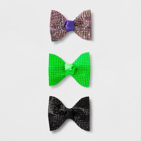0796ec3bd72d Girls' 3pk Stone, Glitter & Bow Salon Clips - Cat & Jack™ : Target