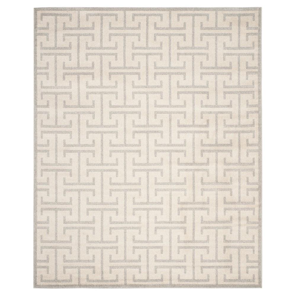 Ivory/Light Gray Geometric Loomed Area Rug - (5'X8') - Safavieh