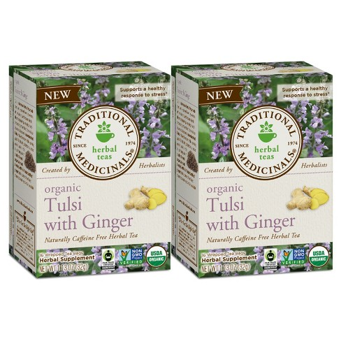 Traditional Medicinals Tulsi with Ginger Organic Tea - 32ct - image 1 of 1