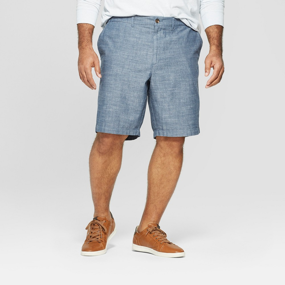Men's Big & Tall 10.5 Slim Fit Chino Shorts - Goodfellow & Co Blue 60