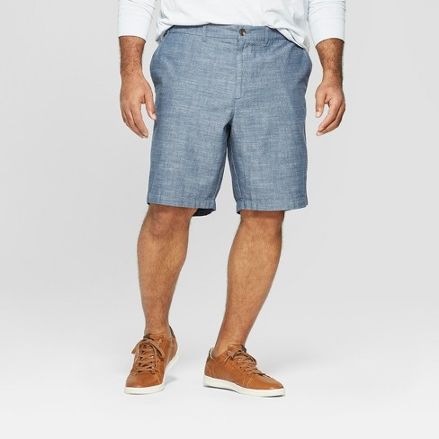 Men's Big & Tall Chino Shorts - Goodfellow & Co™ Blue - image 1 of 3