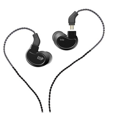 Monoprice Trio Wired In Ear Monitor (1 Balanced Armature+2 Dynamic Drivers) Aluminum Housing, Detachable Cable