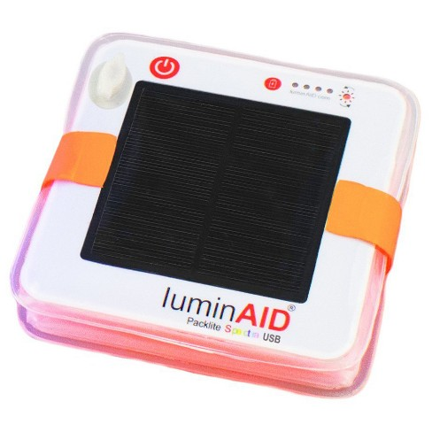 luminAID PackLite Spectra USB Color-Changing Solar Inflatable Lantern with LED Bulb - White - image 1 of 3