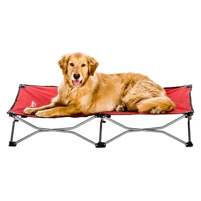 Carlson The Portable Pup Dog Bed - Indoor/Outdoor - Red - Large