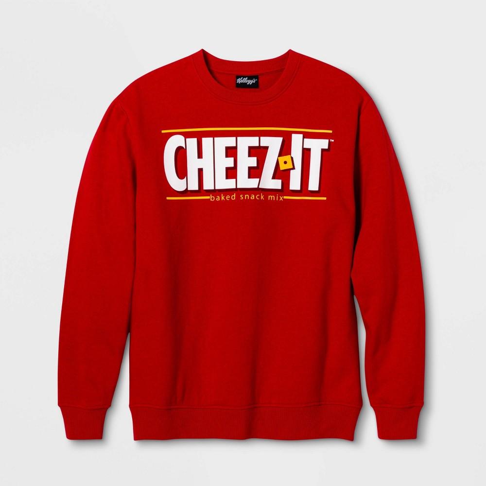 Image of Men's Kellogg's Cheez It Graphic Crew Neck Sweatshirt - Red 2XL, Men's