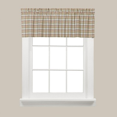 Saturday Knight Ltd Dexter Collection High Quality Fresh & Yarn Dyed Gingham Look Window Panel, Swag, Tier & Valance in Green Color