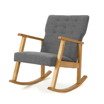 Harvey Mid Century Modern Rocking Chair Gray - Christopher Knight Home