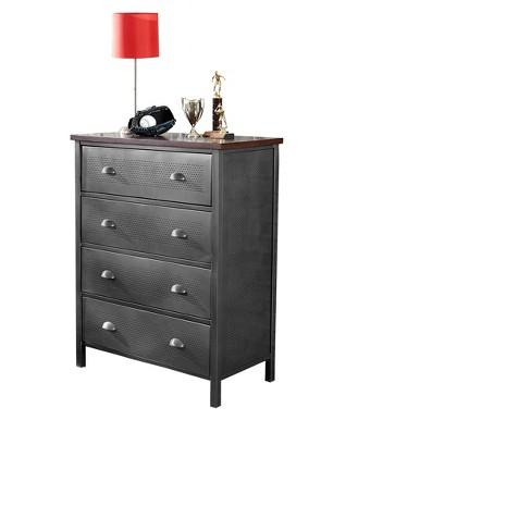 Urban Quarters Chest - Black Steel - Hillsdale Furniture - image 1 of 2