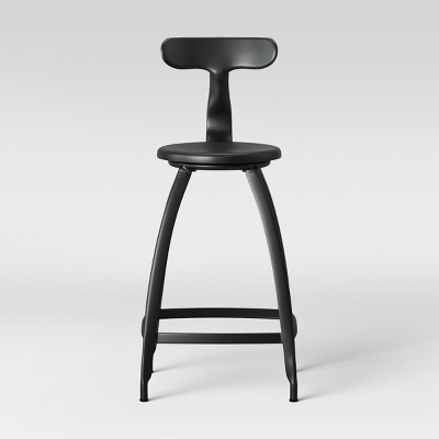 Seidler Architect Industrial Counter Height Barstool Black - Project 62™
