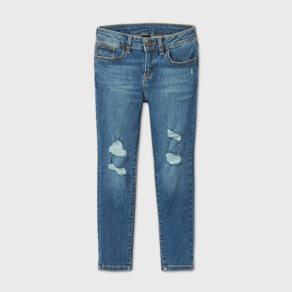 Promos Girls' Distressed Skinny Mid-Rise Jeans - art class*