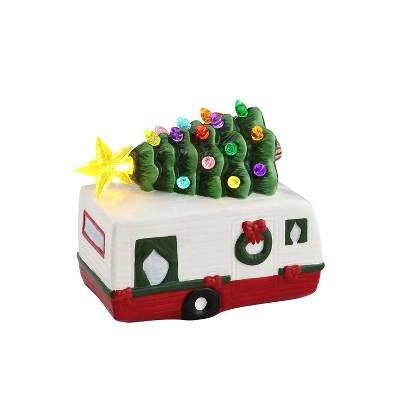 "Mr. Christmas LED Lit Ceramic Nostalgic Camper Christmas Decoration - 5.5"""
