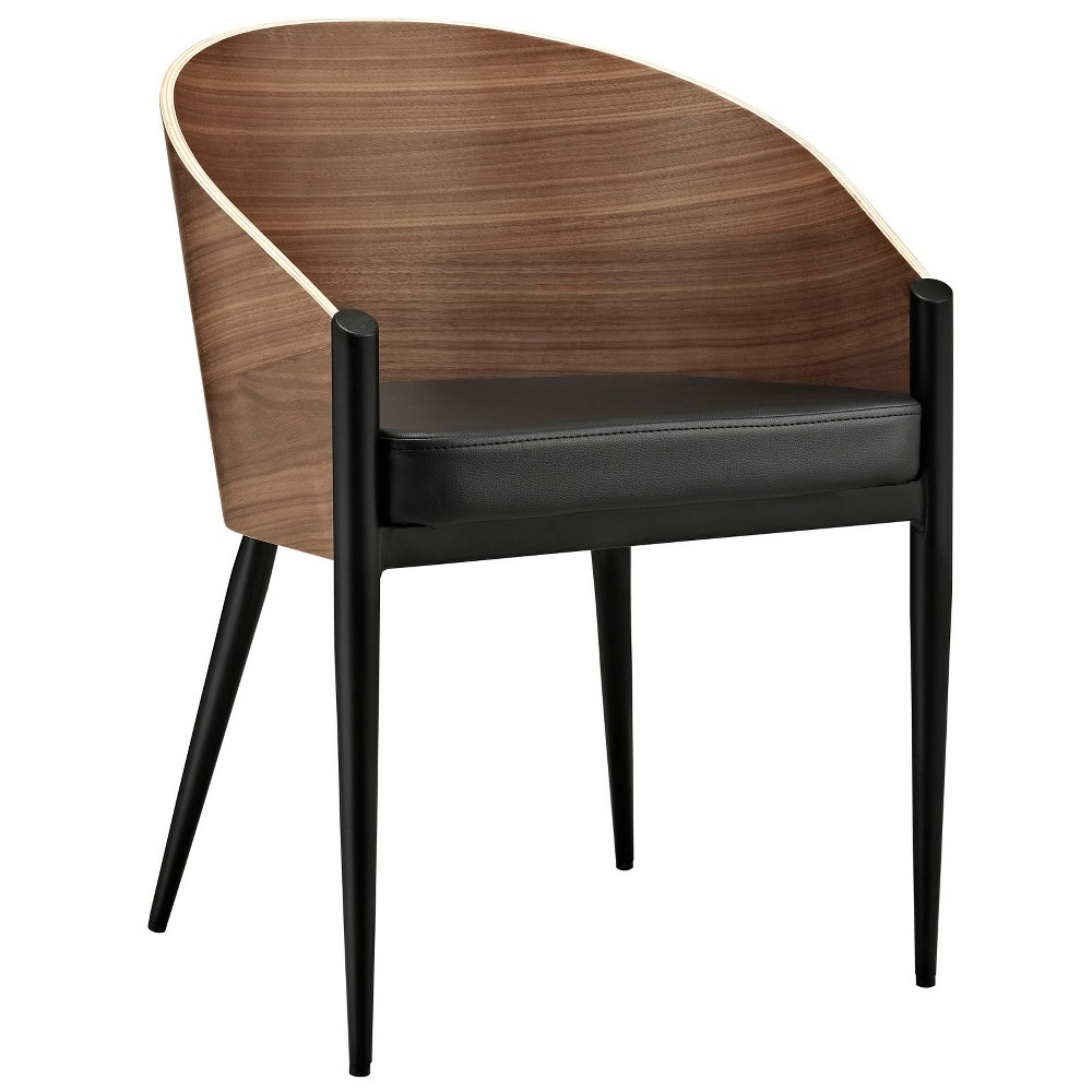 Cooper Dining Wood Armchair Walnut (Brown) - Modway