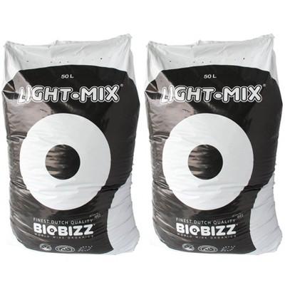 BioBizz BBLM50L Light-Mix 50L Organic Farm Plant Growing Substrate Bag (2 Pack)