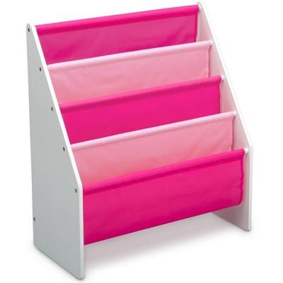 Delta Children Sling Book Rack Bookshelf for Kids' - White/Pink