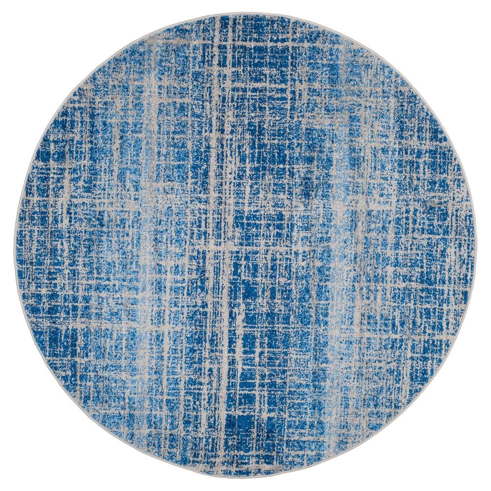 Adirondack Rug - Blue/Silver - (6'x6' Round) - Safavieh