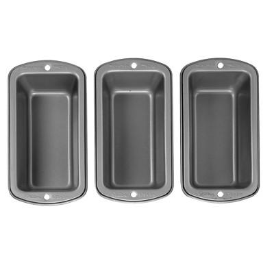 Wilton 3pc Recipe Right Non-Stick Mini Loaf Pan Set