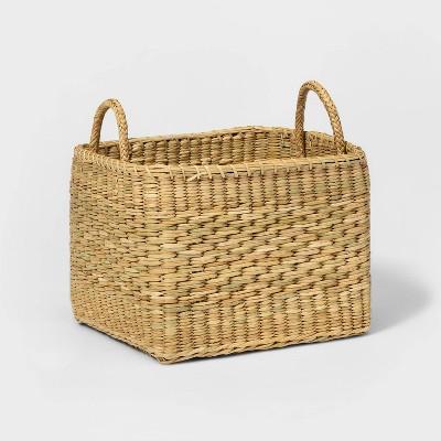 Rectangular Basket with Diagonal Pattern Natural - Threshold™