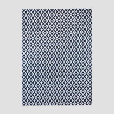 7' x 10' Prisma Diamond Outdoor Rug Blue - Threshold™