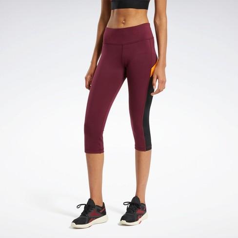 Reebok Workout Ready Mesh Capri Tights Womens Athletic Pants - image 1 of 4