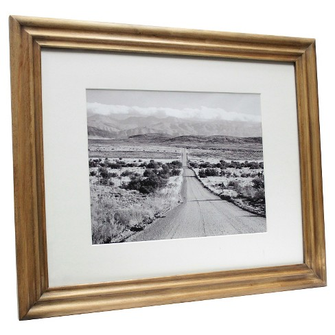 "Mid-Tone Wood 16""x20"" Matted for 11""x14"" Frame - Threshold™ - image 1 of 1"