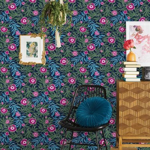 Marker Floral Peel Stick Wallpaper Opalhouse Target